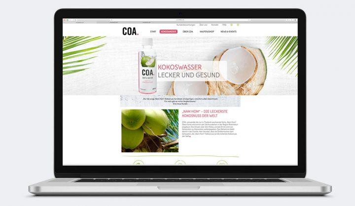 COA Bio-Kokoswasser Corporate Website