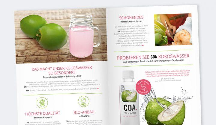 COA Bio-Kokoswasser Flyer